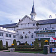 Churchill Downs Paddock Area Behind The Twin Spires Art Print