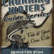 Churning Waters Guide Service Art Print