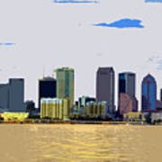 Cigar City Skyline Art Print