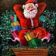Cigar Santa Art Print