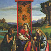Cima Da Conegliano The Madonna And Child With St John The Baptist And Mary Magdalen Art Print