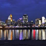 Cincinnati Night Lights Art Print