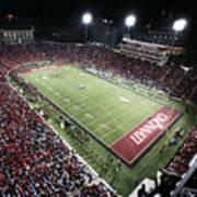 Cincinnati Nippert Stadium The Home Of Bearcat Football Art Print by University of Cincinnati