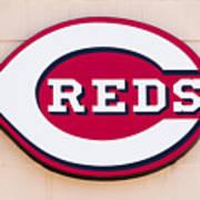 Cincinnati Reds Logo Sign Art Print by Paul Velgos