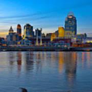 Cincinnati Skyline Across The Ohio River Art Print