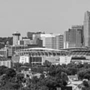 Cincinnati Skyline From Above  Art Print