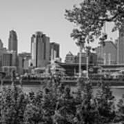 Cincinnati Skyline Through Trees Art Print