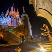 Cinderella And Her Castle Art Print