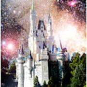 Cinderella's Castle, Fantasy Night Sky, Walt Disney World Art Print