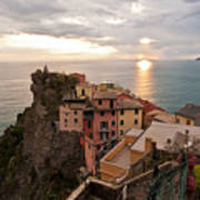Cinque Terre Tranquility Art Print by Mike Reid
