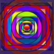 Circles And Squares Abstract Art Print