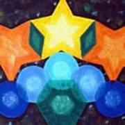 Circles And Stars Art Print