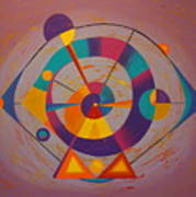 Circles In Space Art Print