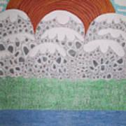 Circular Landscape Art Print