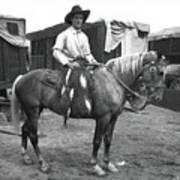 Circus Cowboy On Horse Art Print