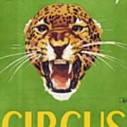 Circus Poster, 1940s Art Print