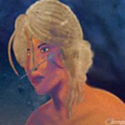 Ciri The Witcher 3 Wild Hunt Fanart Attempt Art Print