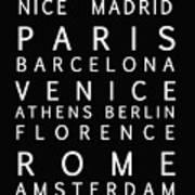 Cities Of Europe Art Print
