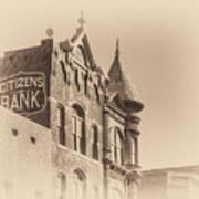 Citizens Bank Sepia Art Print