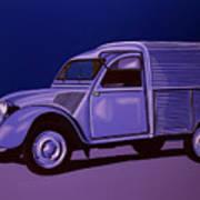 Citroen 2cv Azu 1957 Painting Art Print