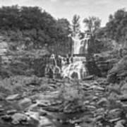 Cittenango Falls Tilt Shift Panorama Bw Art Print