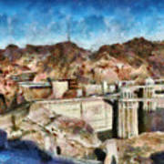 City - Nevada - Hoover Dam Art Print