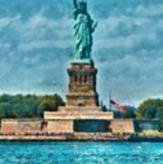 City - Ny - The Statue Of Liberty Art Print
