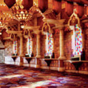 City - Vegas - Excalibur - In The Great Hall  Art Print