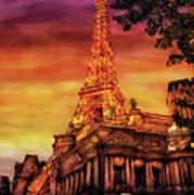City - Vegas - Paris - The Paris Hotel Art Print