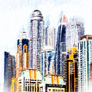 City Abstract Art Print