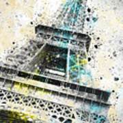 City-art Paris Eiffel Tower Iv Art Print