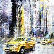 City-art Times Square Streetscene Art Print