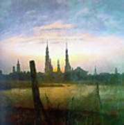 City At Moonrise Art Print