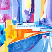 City At Waters Edge Art Print