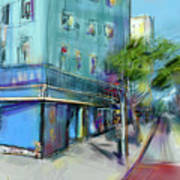 City Blue Art Print
