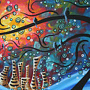 City By The Sea By Madart Art Print by Megan Duncanson