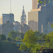 City Hall From The Schuylkill River Art Print
