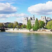 Seine River Embankment Art Print