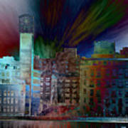 City In Transmission Art Print