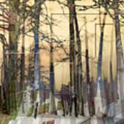 City In Trees Art Print
