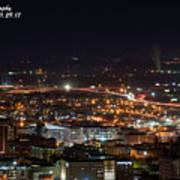 City Lights Over Bham, Al Art Print