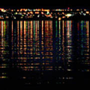 City Lights Upon The Water 1 Art Print