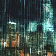 City Night Lights Art Print