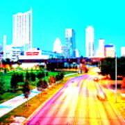 City Of Austin From The Walk Bridge Art Print