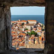 City Of Dubrovnik, The Pearl Of The Mediterranean Sea Art Print