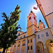 City Of Ljubljana Church And Square View Art Print