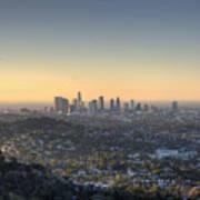 City Of Los Angeles At Dawn Art Print
