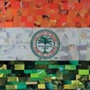 City Of Miami Flag Art Print