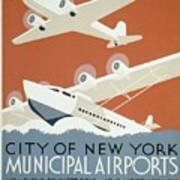 City Of New York Municipal Airports Art Print