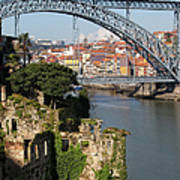 City Of Porto In Portugal Picturesque Scenery Art Print